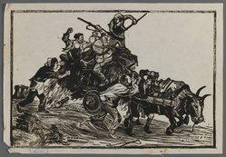 Nee Han. Recapture of Food, ca. 1945. Woodcut, 10 1/16 x 6 3/4 in. (25.5 x 17.2 cm). Brooklyn Museum, Anonymous gift, 62.111.5