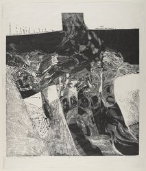 Arthur Deshaies (American, born 1920). Cycle of a Small Sea: Elegy, 1959. Lucite engraving on laid Japan paper, sheet: 28 x 24 1/4 in. (71.1 x 61.6 cm). Brooklyn Museum, Gift of the artist, 62.19.2. © artist or artist's estate