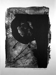 Robert Motherwell (American, 1915-1991). Poet I, 1961. Lithograph on paper, sheet: 30 1/8 x 22 1/2 in. (76.5 x 57.2 cm). Brooklyn Museum, Dick S. Ramsay Fund, 62.86. © artist or artist's estate