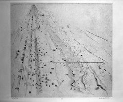 Beth van Hoesen (American, born 1926). Beach, 1961. Etching on paper, 16 x 17 7/8 in. (40.6 x 45.4 cm). Brooklyn Museum, Dick S. Ramsay Fund, 62.88.2. © artist or artist's estate