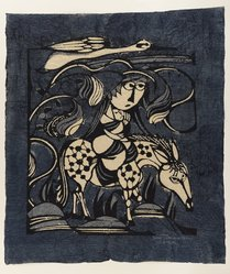 Watanabe Sadao (Japanese, 1913-1996). The Flight into Egypt, 1962. Woodcut on paper, 20 1/2 x 17 1/4 in. (52.1 x 43.8 cm). Brooklyn Museum, Frederick Loeser Fund, 63.13.6. © artist or artist's estate