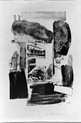 Robert Rauschenberg (American, 1925-2008). Suburb, 1962. Lithograph on paper, 28 1/4 x 19 in. (71.8 x 48.3 cm). Brooklyn Museum, Dick S. Ramsay Fund, 63.16.1. © artist or artist's estate
