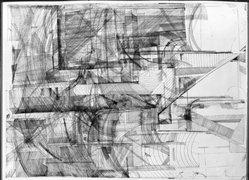 Bernhard Luginbuehl (Swiss, born 1929). Engraving V, 1962. Engraving on wove paper, 35 1/16 x 25 9/16 in. (89 x 65 cm). Brooklyn Museum, Caroline A.L. Pratt Fund, 63.205.2. © artist or artist's estate