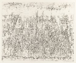 Mika Katayama. Ground No. A. Etching, 14 1/4 x 17 1/2 in. (36.2 x 44.5 cm). Brooklyn Museum, Carll H. de Silver Fund, 63.68.3. © artist or artist's estate