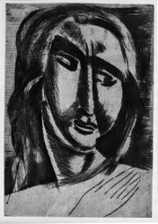André Derain (French, 1880-1954). Head of a Woman, ca. 1915. Drypoint on laid paper, 12 3/8 x 8 9/16 in. (31.5 x 21.8 cm). Brooklyn Museum, Gift of The Louis E. Stern Foundation, Inc., 64.101.145. © artist or artist's estate