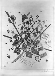 Wassily Kandinsky (Russian, 1866-1944). Small Worlds IX (Kleine Welten IX), 1922. Drypoint on heavy wove paper, Image (Plate): 9 3/8 x 7 7/8 in. (23.8 x 20 cm). Brooklyn Museum, Gift of The Louis E. Stern Foundation, Inc., 64.101.234. © artist or artist's estate
