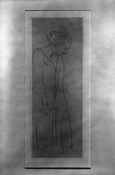 Henri Matisse (French, 1869-1954). Woman in a Kimono, 1914. Etching on wove paper, 6 5/16 x 2 3/8 in. (16 x 6 cm). Brooklyn Museum, Gift of The Louis E. Stern Foundation, Inc., 64.101.277. © artist or artist's estate