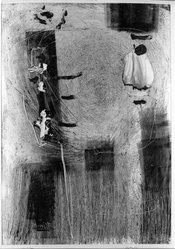 Augusto Rivera Garcés (Colombian, 1922-1982). Untitled, n.d. Monotype on paper, 39 x 28 in. (99.1 x 71.1 cm). Brooklyn Museum, Henry L. Batterman Fund, 64.55.3. © artist or artist's estate