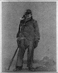 Everett Shinn (American, 1876-1953). Walking Man. Watercolor Brooklyn Museum, Gift of Daniel and Rita Fraad, Jr., 65.204.12. © artist or artist's estate
