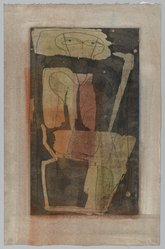 Louise Nevelson (American, born Russia, 1900-1988). Figure Four Thousand, 1950. Etching with aquatint on paper, sheet: 13 7/8 x 7 3/4 in. (35.2 x 19.7 cm). Brooklyn Museum, Gift of Louise Nevelson, 65.22.13. © artist or artist's estate