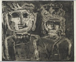 Louise Nevelson (American, born Russia, 1900-1988). Royalty, 1952-1954. Etching on paper, sheet: 20 x 26 3/4 in. (50.8 x 67.9 cm). Brooklyn Museum, Gift of Louise Nevelson, 65.22.22. © artist or artist's estate