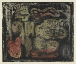 Louise Nevelson (American, born Russia, 1900-1988). The Wild Jungle, 1952-1954. Etching on paper, sheet: 18 1/8 x 20 3/4 in. (46 x 52.7 cm). Brooklyn Museum, Gift of Louise Nevelson, 65.22.26. © artist or artist's estate