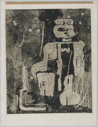 Louise Nevelson (American, born Russia, 1900-1988). Majesty, 1952-1954. Etching on paper, sheet: 25 13/16 x 19 7/8 in. (65.6 x 50.5 cm). Brooklyn Museum, Gift of Louise Nevelson, 65.22.29. © artist or artist's estate