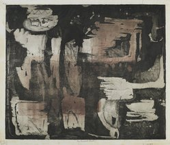 Louise Nevelson (American, born Russia, 1900-1988). The Ancient Garden, 1952-1954. Etching on paper, sheet: 16 7/8 x 20 3/8 in. (42.9 x 51.8 cm). Brooklyn Museum, Gift of Louise Nevelson, 65.22.5. © artist or artist's estate