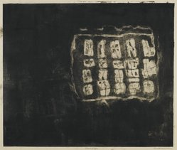 Louise Nevelson (American, born Russia, 1900-1988). Circus Wagon, 1952-1954. Etching on paper, sheet: 18 x 20 3/4 in. (45.7 x 52.7 cm). Brooklyn Museum, Gift of Louise Nevelson, 65.22.8. © artist or artist's estate