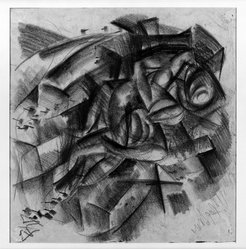 Otto Dix (German, 1891-1969). Lovers (recto and verso), 1917. Charcoal on laid paper, Sheet: 15 3/16 x 15 7/8 in. (38.6 x 40.3 cm). Brooklyn Museum, A. Augustus Healy Fund, 65.23.1a-b. © artist or artist's estate