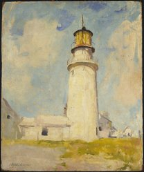 Charles W. Hawthorne (American, 1872-1930). Highland Light, ca. 1925. Oil on panel, 24 x 19 13/16 in. (60.9 x 50.3 cm). Brooklyn Museum, Gift of Mr. and Mrs. Raymond J. Horowitz, 65.253. © artist or artist's estate