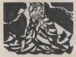 Munakata Shiko (Japanese, 1903-1975). Praying Figure, 1940. Woodblock print, sheet: 11 1/8 x 14 7/8 in. (28.3 x 37.8 cm). Brooklyn Museum, A. Augustus Healy Fund, 65.28.2. © artist or artist's estate