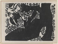 Munakata Shiko (Japanese, 1903-1975). Figure - L. Corner, 1940. Woodblock print, sheet: 11 1/8 x 14 7/8 in. (28.3 x 37.8 cm). Brooklyn Museum, A. Augustus Healy Fund, 65.28.9. © artist or artist's estate