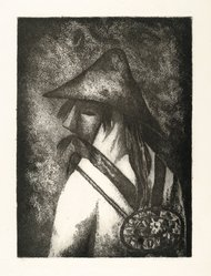 Lola Cueto (Mexican, 1897-1978). Dancer of Oaxaca, 1958. Etching Brooklyn Museum, Gift of Mr. and Mrs. Gustave Gilbert, 66.199.5. © artist or artist's estate