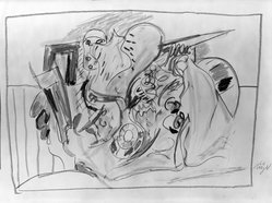 Willy Meyer (German, born 1934). Untitled, 1966. Crayon on paper, 21 1/4 x 30 in. (54 x 76.2 cm). Brooklyn Museum, Gift of Margarete Schultz, 66.93.1. © artist or artist's estate