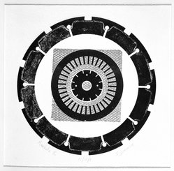 Seena Donneson (American, born 1924). Mandala X, ca. 1965. Intaglio in color, 17 3/4 x 17 1/2 in. (45.1 x 44.5 cm). Brooklyn Museum, Gift of the artist, 67.141. © artist or artist's estate