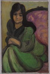 Brooklyn Museum: European Art: Woman in an Armchair (Femme ...