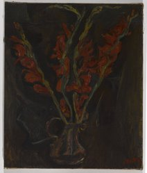 Chaim Soutine (Russian, active in France, 1893-1943). Still Life, Gladiolas, ca. 1919. Oil on canvas, 21 3/4 x 18 1/4 in. (55.2 x 46.4 cm). Brooklyn Museum, Bequest of Laura L. Barnes, 67.24.24. © artist or artist's estate