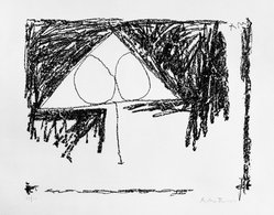 Robert Motherwell (American, 1915-1991). [Untitled], 1965. Lithograph on paper, sheet: 22 1/4 x 30 1/4 in. (56.5 x 76.8 cm). Brooklyn Museum, Gift of Irwin Hollander, 67.243.9. © artist or artist's estate