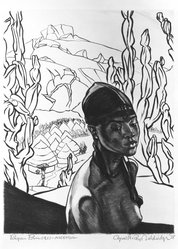 Cyrus LeRoy Baldridge (American, 1889-1975). Pagan Princess - Nigeria, 1938. Etching on laid paper, 10 3/4 x 8 1/2 in. (27.3 x 21.6 cm). Brooklyn Museum, Gift of Mrs. Harold J. Baily, 67.27.13. © artist or artist's estate