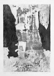 Nilda Sanchez. La Exaltacion del Cabellero Dormido, 1964. Intaglio on paper, image: 19 1/4 x 13 5/8 in. (48.9 x 34.6 cm). Brooklyn Museum, Gift of Emilio Sanchez, 67.34.1. © artist or artist's estate