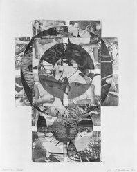 David Bostrom (American). American Cross, 1966. Monotype made by frottage (rubbing), 18 1/2 x 13 1/2 in. (47 x 34.3 cm). Brooklyn Museum, Dick S. Ramsay Fund, 67.36. © artist or artist's estate