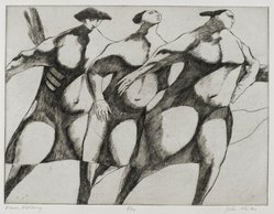 John Fenton (American, 1912-1977). Women Walking, 1967. Etching, 8 7/8 x 11 3/4 in. (22.5 x 29.8 cm). Brooklyn Museum, Dick S. Ramsay Fund, 68.13.1. © artist or artist's estate