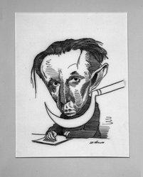 David Levine (American, 1926-2009). Salzkenyitsen, 1968. Ink on board, 11 1/2 x 7 1/4 in. (29.2 x 18.4 cm). Brooklyn Museum, Gift of the artist, 68.224.25. © artist or artist's estate
