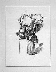 David Levine (American, 1926-2009). Kenneth Burke, American Poet, 1968. Ink on board, 11 x 7 1/2 in. (27.9 x 19.1 cm). Brooklyn Museum, Gift of the artist, 68.224.9. © artist or artist's estate