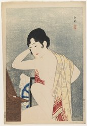 Hiroaki Watanabe (Japanese). Yokugo, 20th century. Woodblock color print, 15 1/2 x 10 1/2 in. (39.4 x 26.7 cm). Brooklyn Museum, Carll H. de Silver Fund, 68.35.11