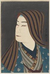 Kampo (Japanese). Tsuki No Nagameru Maiko, Printed 1924. Woodblock color print, 15 3/4 x 10 3/4 in. (40 x 27.3 cm). Brooklyn Museum, Carll H. de Silver Fund, 68.35.13. © artist or artist's estate