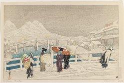 Kazuma (Japanese). Matsue Ohashi, Printed 1924. Woodblock color print, 9 1/2 x 14 1/4 in. (24.1 x 36.2 cm). Brooklyn Museum, Carll H. de Silver Fund, 68.35.8. © artist or artist's estate