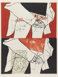 Ikeda Masuo (Japanese, 1934-1997). The Meaning of Hands, 1966. Drypoint and etching in color Brooklyn Museum, Henry L. Batterman Fund, 68.65.2. © artist or artist's estate