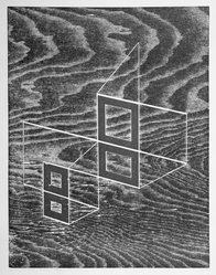 Josef Albers (American, 1888-1976). W + P, State III, 1968. Woodcut on wove paper, Sheet: 17 15/16 x 14 15/16 in. (45.6 x 37.9 cm). Brooklyn Museum, Gift of the artist, 69.26.3. © artist or artist's estate