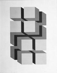 Jose Maria Yturalde (Spanish, born 1942). Untitled, 1968. Serigraph on board, 12 x 7 3/4 in. (30.5 x 19.7 cm). Brooklyn Museum, Gift of the Museo de Arte Abstracto Español through D. Fernando Zobel, 69.28.14. © artist or artist's estate