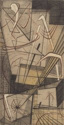 Tom Lias (American, born 1903). Abstract No. Two, 1947. Engraving on light board, 8 3/4 x 4 5/8 in. (22.2 x 11.7 cm). Brooklyn Museum, Gift of the Museum of Modern Art, 70.113.6. © artist or artist's estate