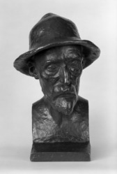 Aristide Maillol (French, 1861-1944). Bust of Renoir, Model completed: 1907. Bronze, 16 x 11 1/2 x 12 in. (40.6 x 29.2 x 30.5 cm). Brooklyn Museum, Gift of Mr. and Mrs. Richard Rodgers, 70.176.6. © artist or artist's estate