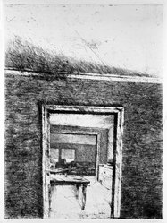 Robert Birmelin (American, born 1933). Looking Through, 1969-1970. Etching on paper, 29 7/8 x 22 in. (75.9 x 55.9 cm). Brooklyn Museum, Charles Stewart Smith Memorial Fund, 70.39. © artist or artist's estate