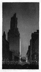Gerald K. Geerlings (American, 1897-1998). Black Magic, 1928. Etching, aquatint, 12 x 6 5/8 in. (30.5 x 16.8 cm). Brooklyn Museum, Gift in memory of Clarence John Marsman, 70.75.38. © artist or artist's estate