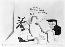 Anthony Deigan (British, born 1945). Blowing Bubbles, 1969, 1969. Etching, 9 1/4 x 13 1/4 in. (23.5 x 33.7 cm). Brooklyn Museum, Bristol-Myers Fund, 71.133.2. © artist or artist's estate