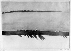 Patrick Procktor (British, born Dublin, Ireland, 1936-2003). Queens Necklace, 1970. Aquatint on paper, sheet: 22 1/4 x 31 in. (56.5 x 78.7 cm). Brooklyn Museum, Bristol-Myers Fund, 71.133.3. © artist or artist's estate