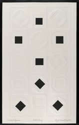 Ray H. French (American, born 1919). Circles and Squares, 1970. Inkless intaglio, 22 x 14 in. (55.9 x 35.6 cm). Brooklyn Museum, Gift of the Society of American Graphic Artists in memory of John von Wicht, 71.60.21. © artist or artist's estate