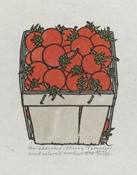 Jacques Hnizdovsky (American, born Ukraine, 1915). Cherry Tomatoes, 1970. Woodcut, Sheet: 25 13/16 x 17 13/16 in. (65.5 x 45.3 cm). Brooklyn Museum, Gift of the Society of American Graphic Artists in memory of John von Wicht, 71.60.31. © artist or artist's estate