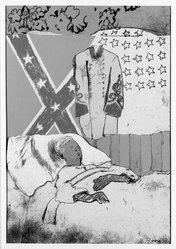 Larry Rivers (American, 1923-2002). The Last Civil War Veteran, 1970. Screenprint with collage, 29 x 20 in. (73.7 x 50.8 cm). Brooklyn Museum, Bristol-Myers Fund, 71.63. © artist or artist's estate